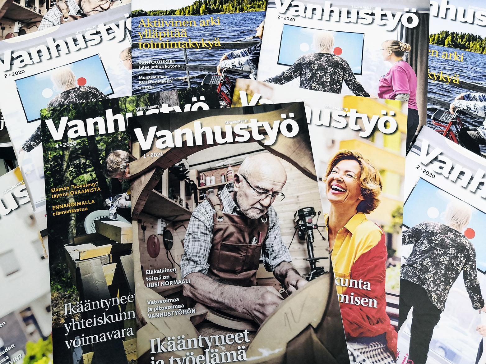 Vanhustyö-lehden kansikuvat